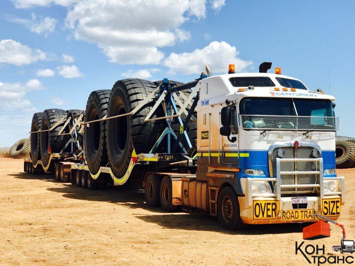 Перевозка грузовых больших шин СПб